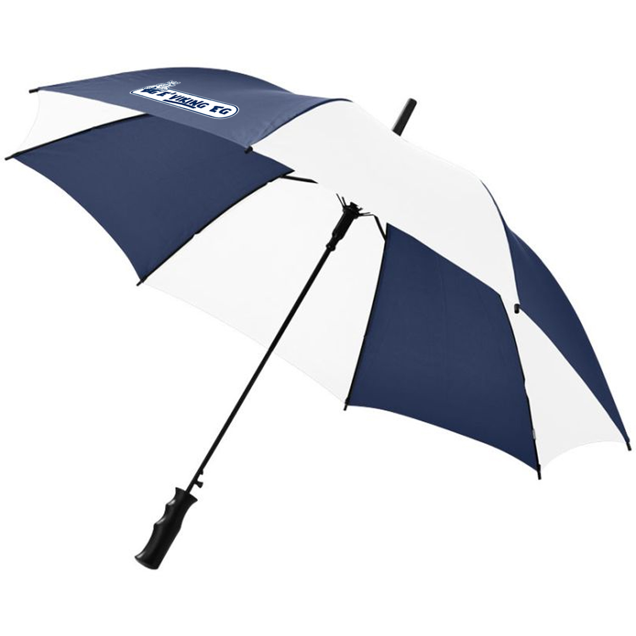 Paraply blå/hvit
